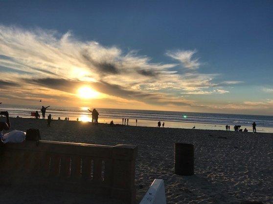 サンディエゴのビーチの気候