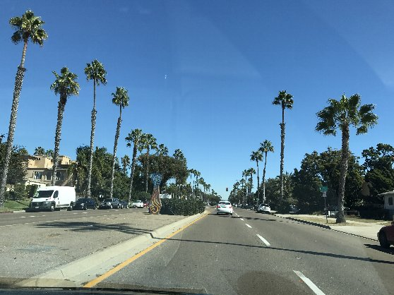 Uberでサンディエゴ市内を移動中